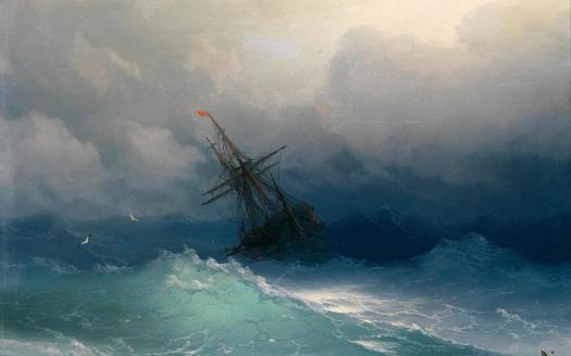 Парусник в Светящемся море